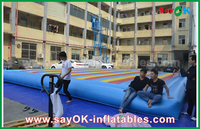 0.55mm PVC Inflatable Mat Bouncer For Children Playing Sports Game