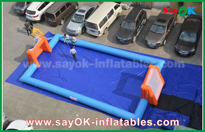Word Cup PVC Inflatable Sports Games , Customized Inflatable Football Pitch