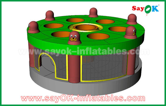 2019 Funny Inflatable Human Whack A Mole Game with Air Blower for Sale