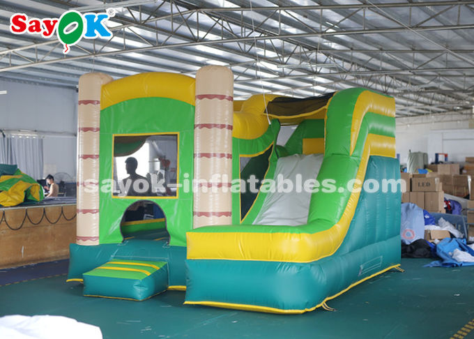 4*3.5*3.5m PVC Tarpauline Inflatable Bouncer Slide With Blower For Entertainment