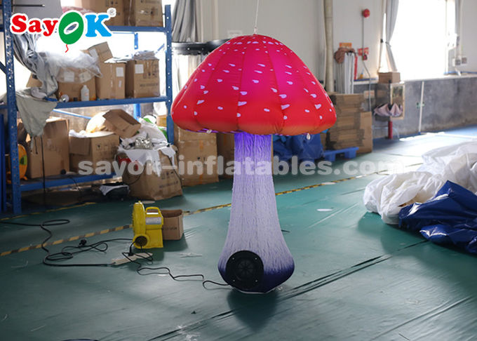 1.5m Inflatable Lighting Decoration / Inflatable Mushroom For Festival