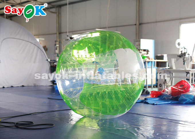 1.5m 0.8mm PVC Inflatable Bubble Soccer Transparent / Red / Green Color