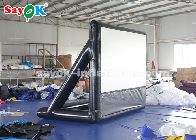 2.63×3.4m Projection Cloth Outdoor Inflatable Movie Screen For Science Centers