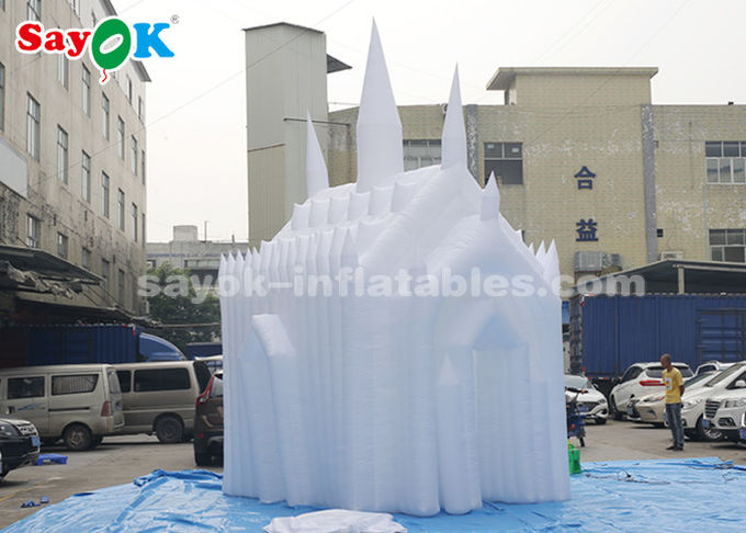 White 210D Oxford Cloth Inflatable Bouncy Castle For Children Customized Size