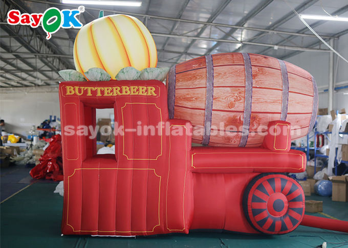 High Air Tightness Inflatable Holiday Decorations Halloween Pumpkin Carriage