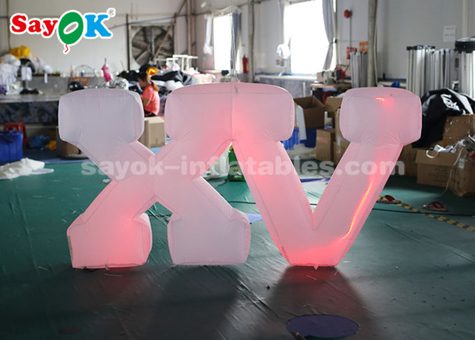 1.2m High Inflatable Lighting Decoration / Inflatable LED Letter Easy Set Up
