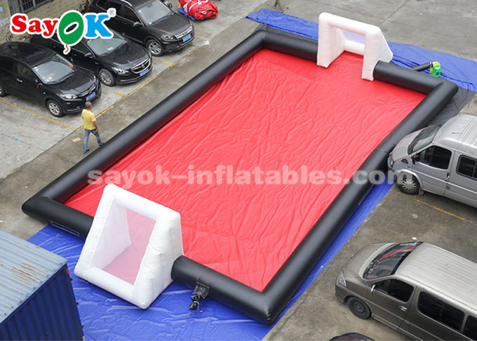 15*8m PVC Tarpaulin Inflatable Sports Games Inflatable Football Field