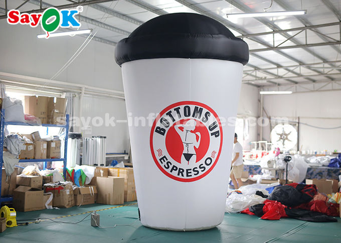 3.6m Custom Inflatable Products / Blow Up Coffee Cup For Advertising