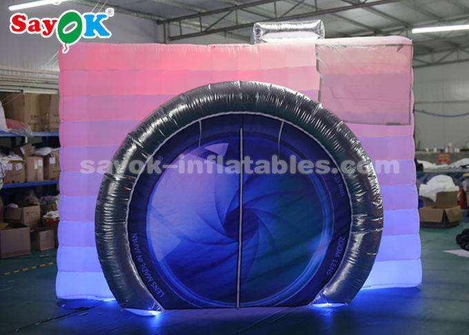 Lightweight Inflatable Photo Booth Double LED Strips For Trade Show