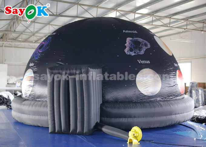 6m Portable 360 Degree Inflatable Planetarium Dome Tent For Science Museum