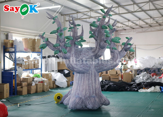 3 Meter 210D Oxford Cloth Giant Inflatable Tree For Advertisement