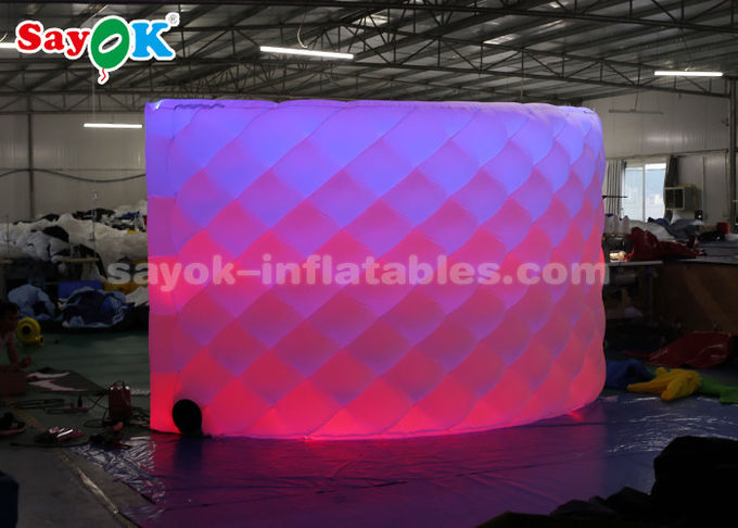 Attractive Inflatable LED Photo Booth Backdrop Wall With Remote Control