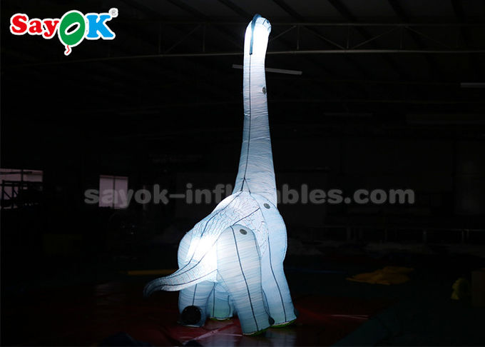 Oxford Fabric 4mH Inflatable Cartoon Characters Dinosaur With LED Light