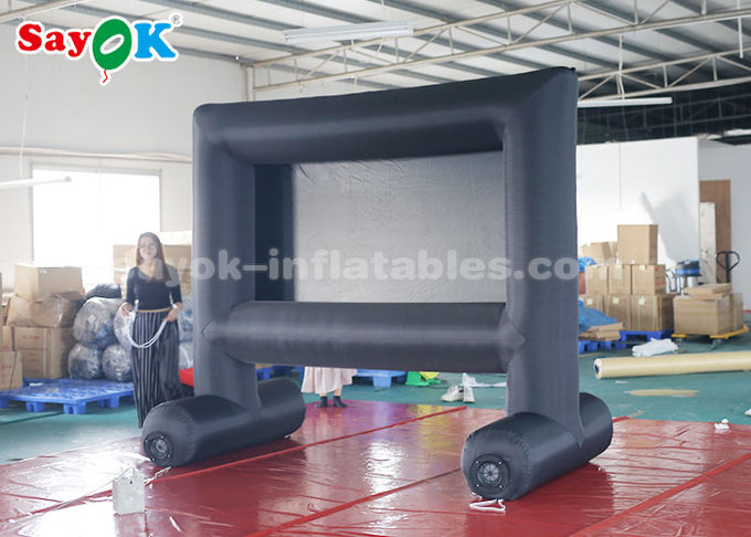Portable Inflatable Movie Screen With Air Blower For Backyard / Parks
