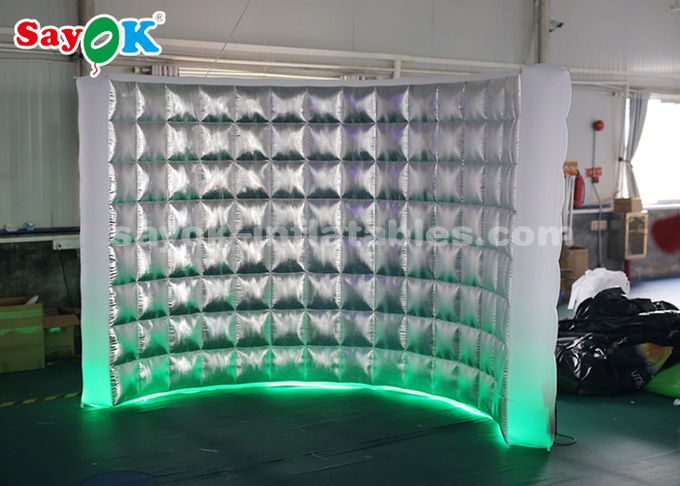 Durable Photo Booth Inflatable Wall For Stage Decoration / Led Air Photo Booth