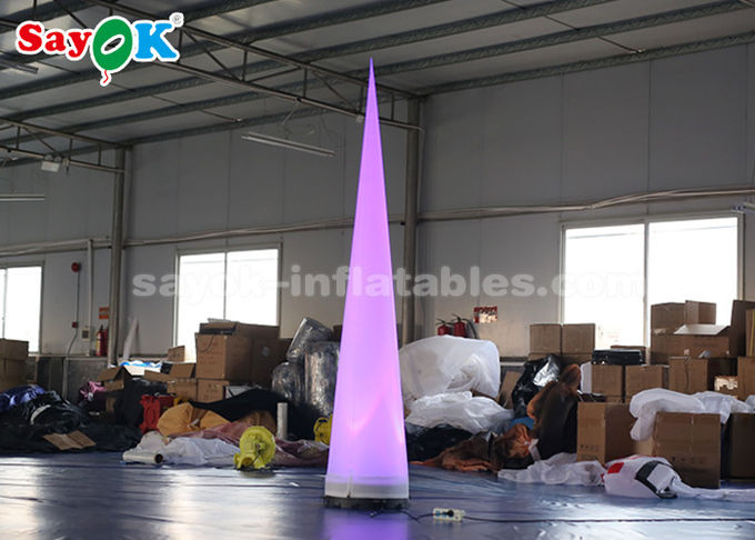 Portable  Inflatable Lighting Decoration Column Lighting Cone White Fabric