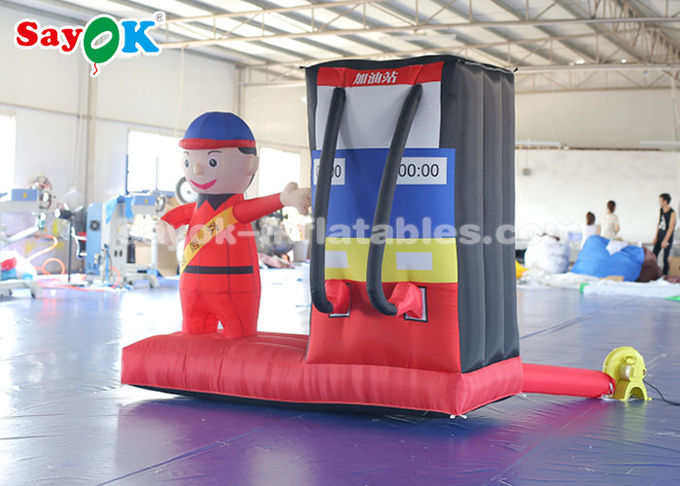 Durable Inflatable Gas Station Cartoon Characters For Commercial