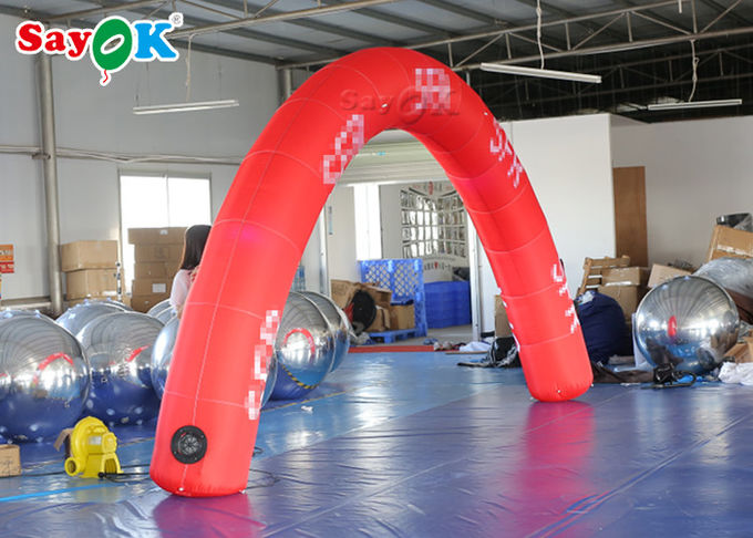Red 6*3m Inflatable Arch Start Finish Line For Advertising Event SGS