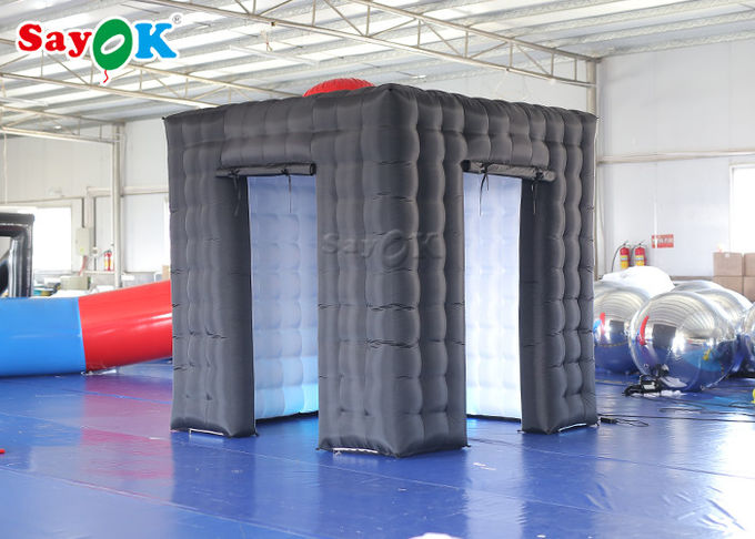 Durable Inflatable Cube Photo Booth With Air Blower Size 2.5*2.5*2.5m