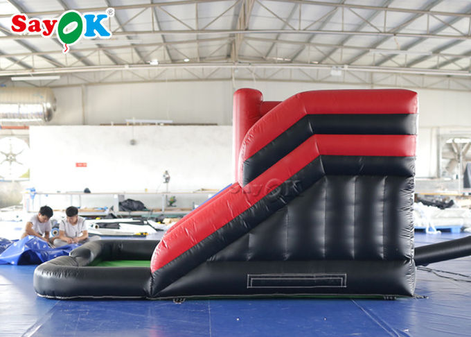 PVC Tarpaulin Giant 4*4m Inflatable Bouncer Slide With Blower For Amusement