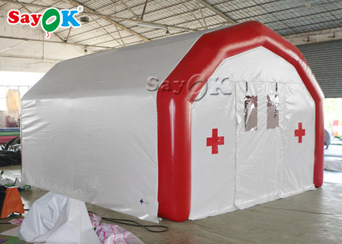 Large Airtight Mobile Hospital Inflatable Medical Tent To Set Medical Beds 2