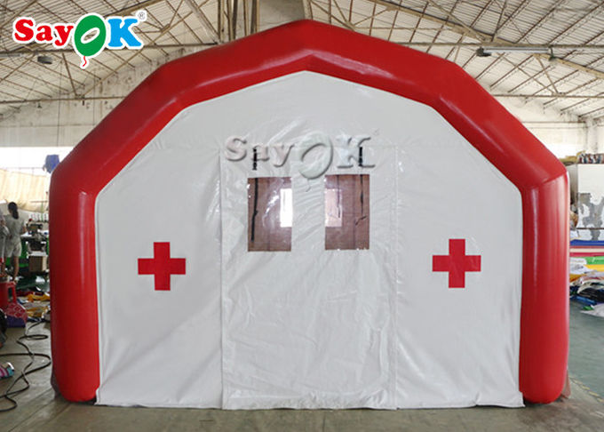 Large Airtight Mobile Hospital Inflatable Medical Tent To Set Medical Beds 3