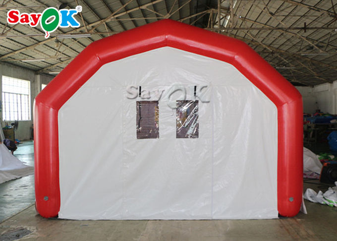 Large Airtight Mobile Hospital Inflatable Medical Tent To Set Medical Beds 4
