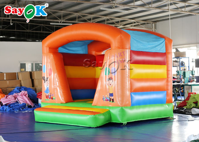 Colorful Commercial  Inflatable Bounce House Trampoline Fire - Retardant