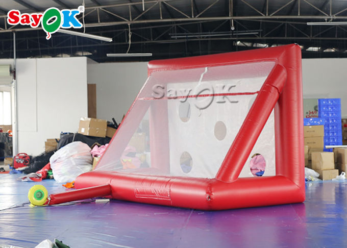Portable Inflatable Sports Games / Mini inflatable Soccer Door Outdoor Football Court 3