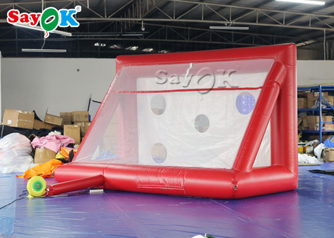 Portable Inflatable Sports Games / Mini inflatable Soccer Door Outdoor Football Court 2