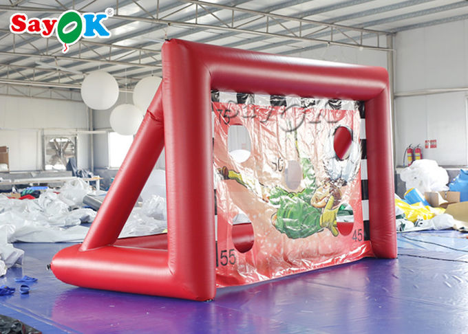 Portable Inflatable Sports Games / Mini inflatable Soccer Door Outdoor Football Court 1