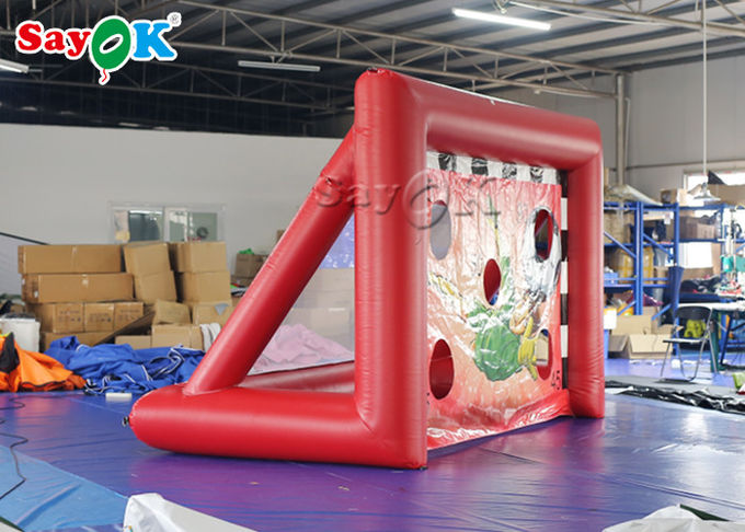 Portable Inflatable Sports Games / Mini inflatable Soccer Door Outdoor Football Court 0