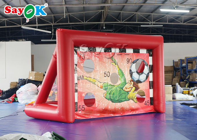 Portable Inflatable Sports Games / Mini inflatable Soccer Door Outdoor Football Court 4