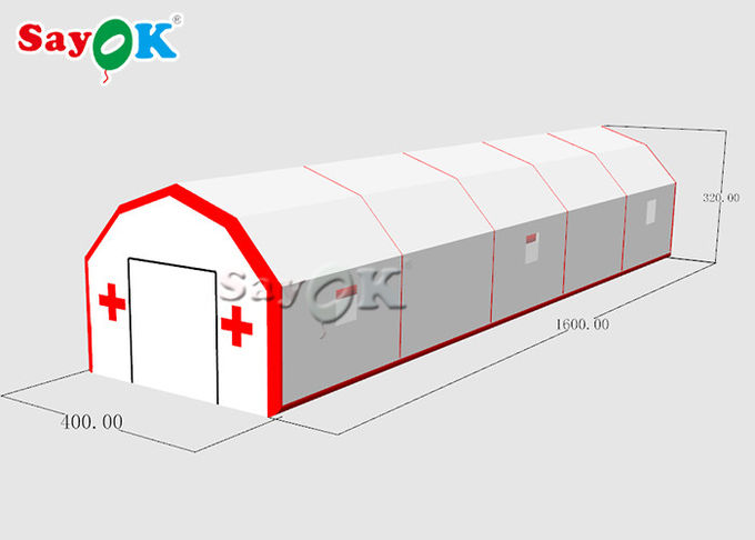 High Durability Blow Up Air Tent  / Antibacterial Inflatable Tunnel Tent