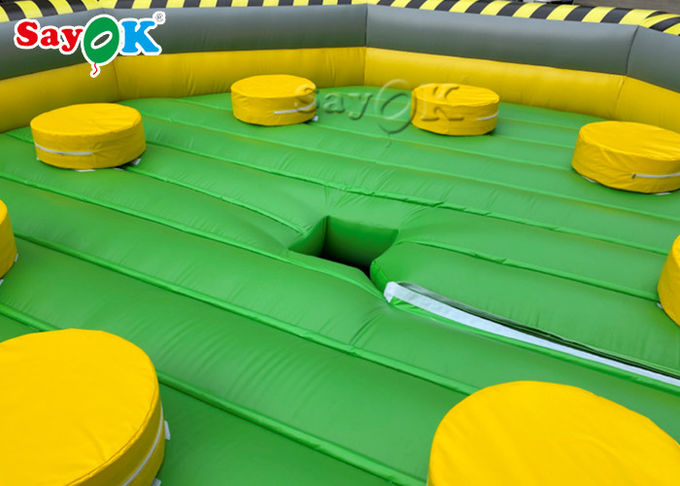 6m Crazy Inflatable Meltdown Machine Meltdown Wipeout Game For Amusement