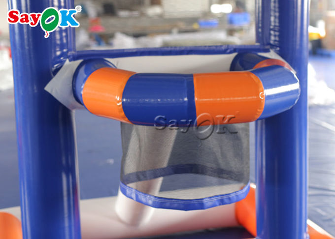 Fire - Proof Inflatable Sports Games / Creative Kids Inflatable Basketball Water Shooting Game