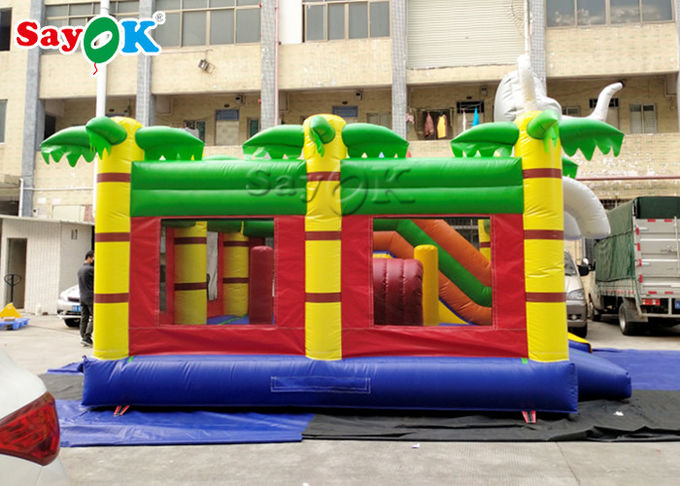 Home Mini Elephant Cartoon Inflatable Bouncer Castle For Kids Party 0