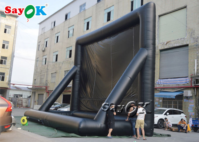 Double Stiching PVC Museum Inflatable Movie Screen 1